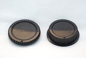 Задняя крышка на объектив и Боди фотоаппарата CANON 2 шт