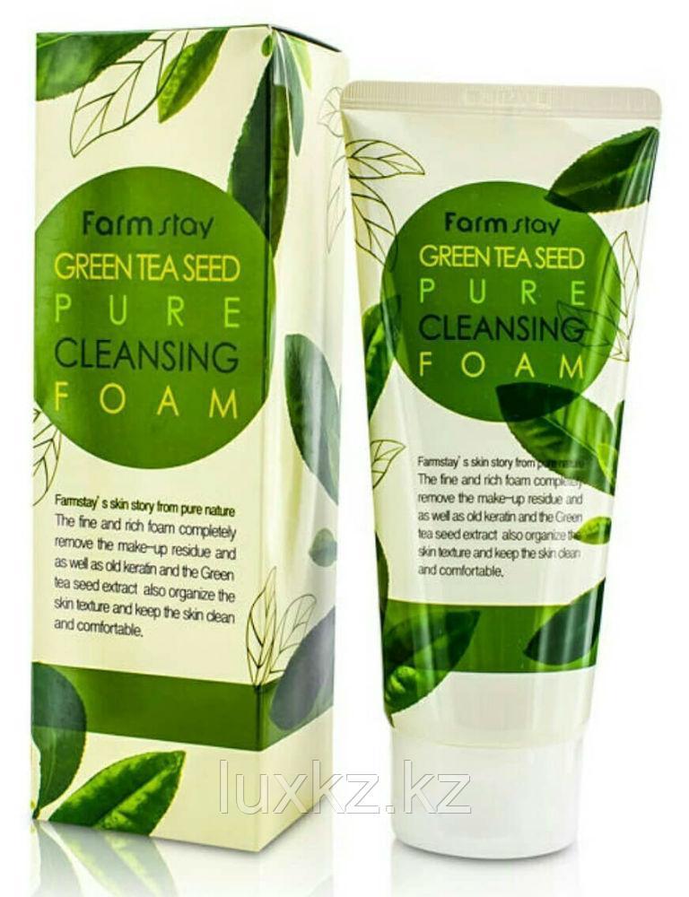 Очищающая пенка с экстрактом зеленого чая FarmStay Green Tea Seed Pure Cleansing Foam