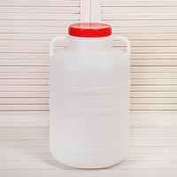 Фляга-бочка пищевая, 25 л, белая