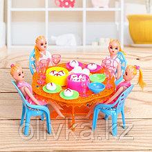 Набор мебели для кукол, с куклами, МИКС
