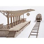 Конструктор 3D-пазл Ugears Перрон 196 деталей, фото 2