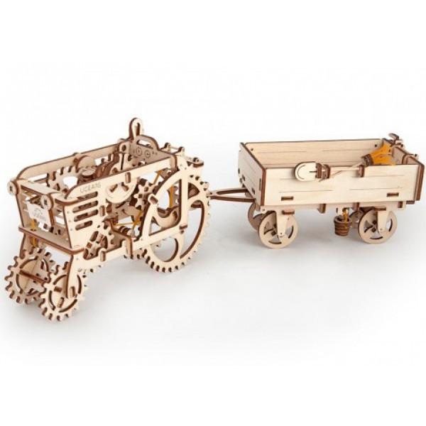 Конструктор 3D-пазл Ugears Прицеп к трактору 68 деталей