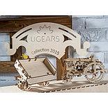 Конструктор 3D-пазл Ugears Прицеп к трактору 68 деталей, фото 3