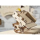 Конструктор 3D-пазл Ugears Прицеп к трактору 68 деталей, фото 2