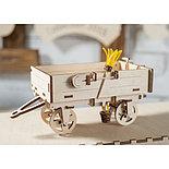 Конструктор 3D-пазл Ugears Прицеп к трактору 68 деталей, фото 6