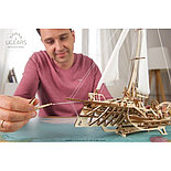 Конструктор 3D-пазл Ugears Тримаран Мерихобус 237 деталей, фото 6