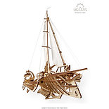 Конструктор 3D-пазл Ugears Тримаран Мерихобус 237 деталей, фото 5