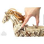 Конструктор 3D-пазл Ugears Конь Механоид 410  деталей, фото 2