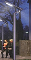 Уличный светильник двусторонний LED 30+20Вт 6000K 3,5м