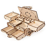 Конструктор 3D-пазл Ugears  Антикварная шкатулка 185 деталей, фото 6