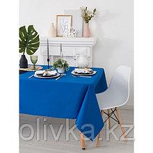 Скатерть «Этель», размер 150х250 см, цвет синий, с ГМО