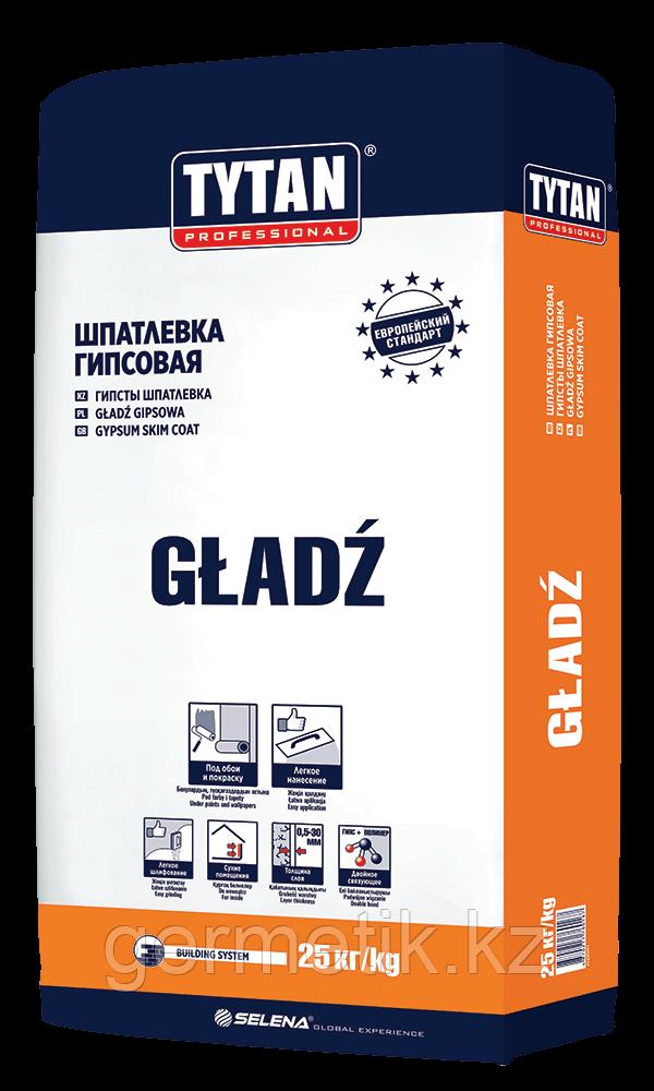 TYTAN GLADZ шпаклевка гипсовая 25кг