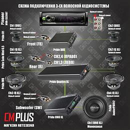 Громкая и качественная 3-ех полосная аудиосистема на компонентах PRIDE