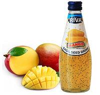 Напиток Riva Семена базилика с ароматом  Манго 290 мл (24шт-упак)