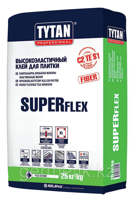 TYTAN SUPER FLEX S1 TS55 клей высокоэластичный для плитки 25кг