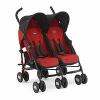 Детская коляска для двойни Chicco Echo Twin Stroller Garnet, фото 1