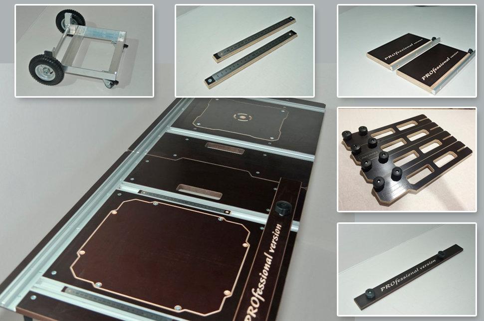 Полный комплект телега-верстак PRO-2 550 мм с 2-мя продольными Т-треками