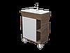Тумба с раковиной Lido 60 см 1Д.. подвесная (1 дверка). Дуб сонома, фото 2