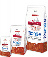 1549 Monge Speciality Line Mini Adult Lamb, Монже сухой корм для собак мелких пород с бараниной, уп. 2,5кг.