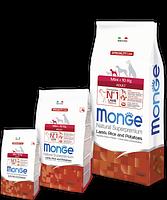 1556 Monge Speciality Line Mini Adult Lamb, Монже сухой корм для собак мелких пород с бараниной, уп. 7,5кг.