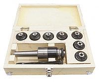Патрон резьбонарезной МТ-3 под винт и набором цанг М12 (комплект 7шт.)