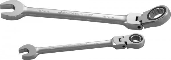 Ключ гаечный комбинированный трещоточный карданный, 8 мм W66108