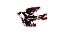 Брошь  Brosh Jewellery  ручной работы пайетка+бисер  (бордовый)