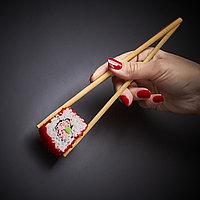 Палочки бамбуковые круглые в прозрачной упаковке без логотипа