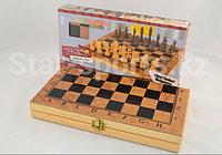Шахматы деревянные 3 в 1, фото 1