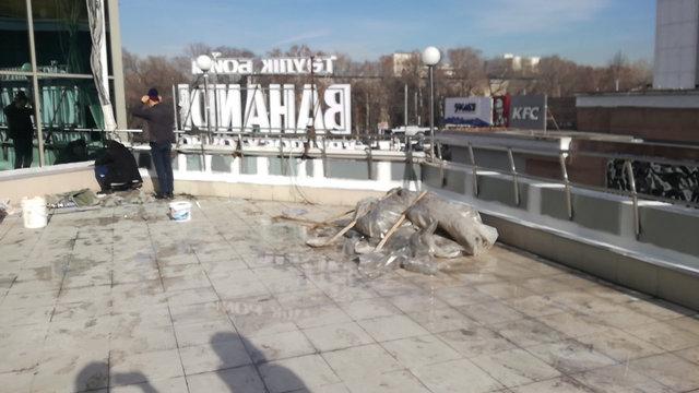 Гидроизоляция террасы ТРЦ Променад, Алматы 4