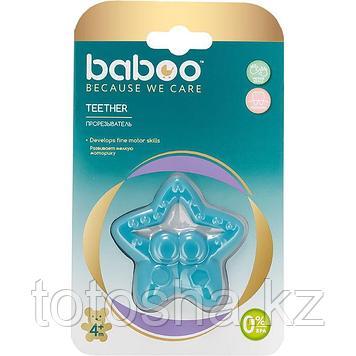 Прорезыватель для зубов Звезда из силикона 4 м+ Baboo 6-008