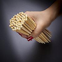 Палочки бамбуковые круглые в белой упаковке без логотипа