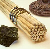 Палочки бамбуковые круглые в белой упаковке с логотипом