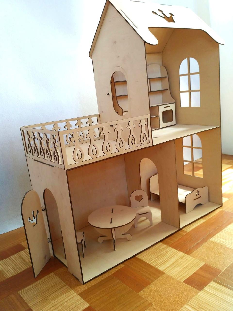 Кукольный эко Домик (без мебели)