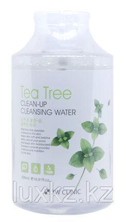 Мицеллярная вода с экстрактом чайного дерева 3W Clinic Clean-Up Cleansing Water Tea Tree
