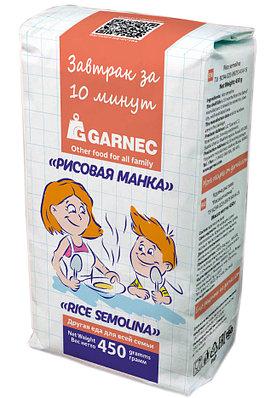 """Крупка рисовая Гарнец """"Рисовая манка"""", 450 гр"""