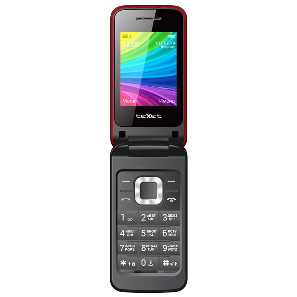 Мобильный телефон teXet TM-204 Garnet