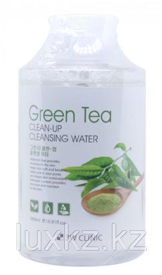 Мицеллярная вода с экстрактом зеленого чая 3W Clinic Clean-Up Cleansing Water Green Tea