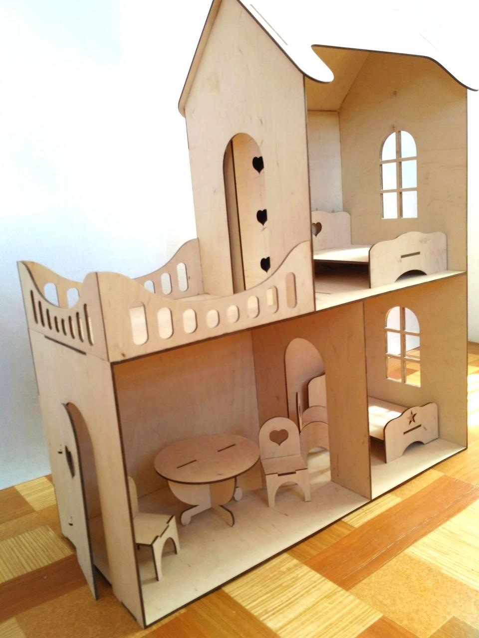 Кукольные эко домик (без мебели)