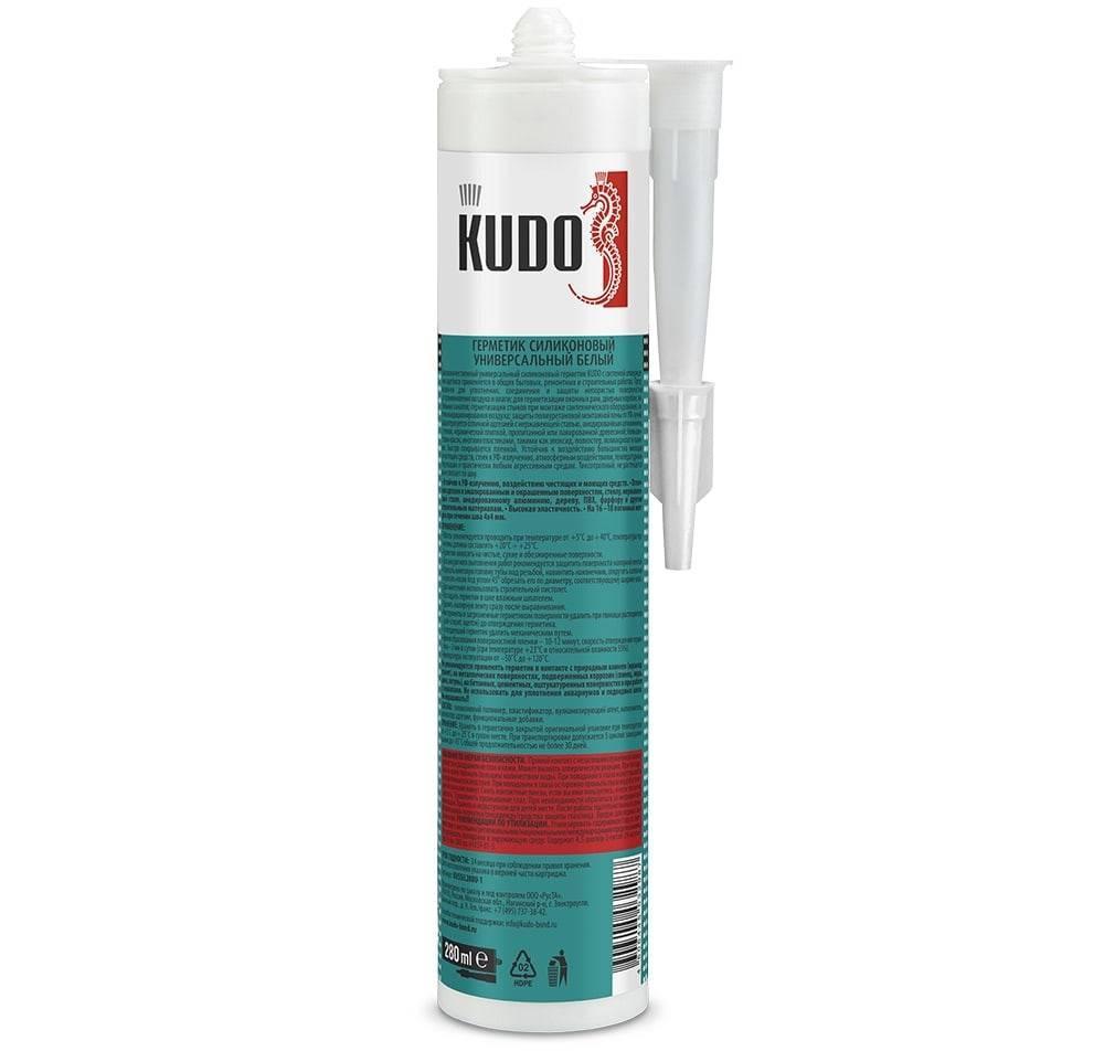Герметик KUDO силиконовый универсальный белый 280мл
