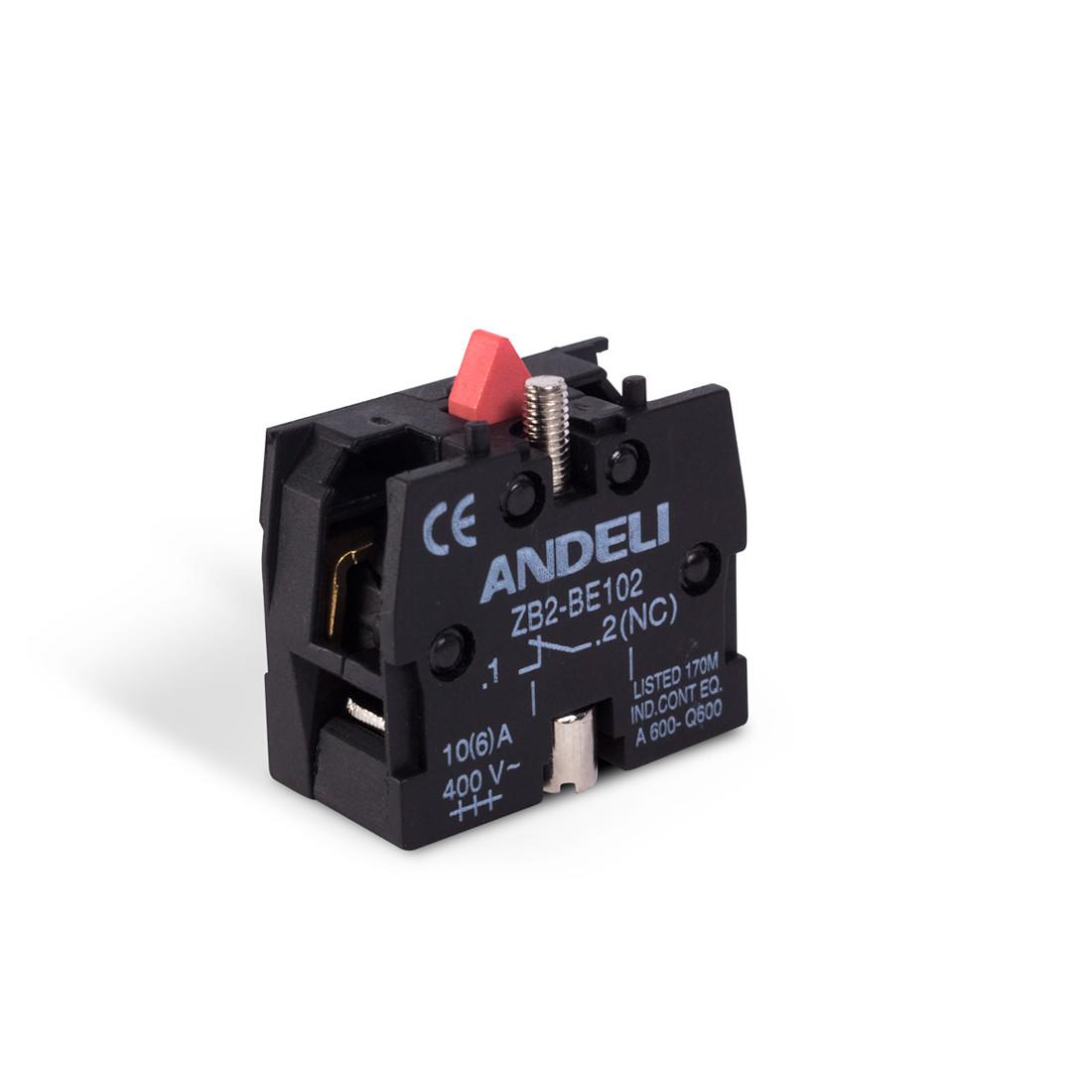 Блок дополнительных контактов для кнопок ANDELI ZB-BE102 NC