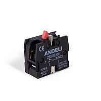 Блок дополнительных контактов для кнопок ANDELI ZB-BE102 NC, фото 1