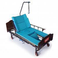 Кровать медицинская механическая с правосторонним туалетным устройством MET REKARDO., фото 1