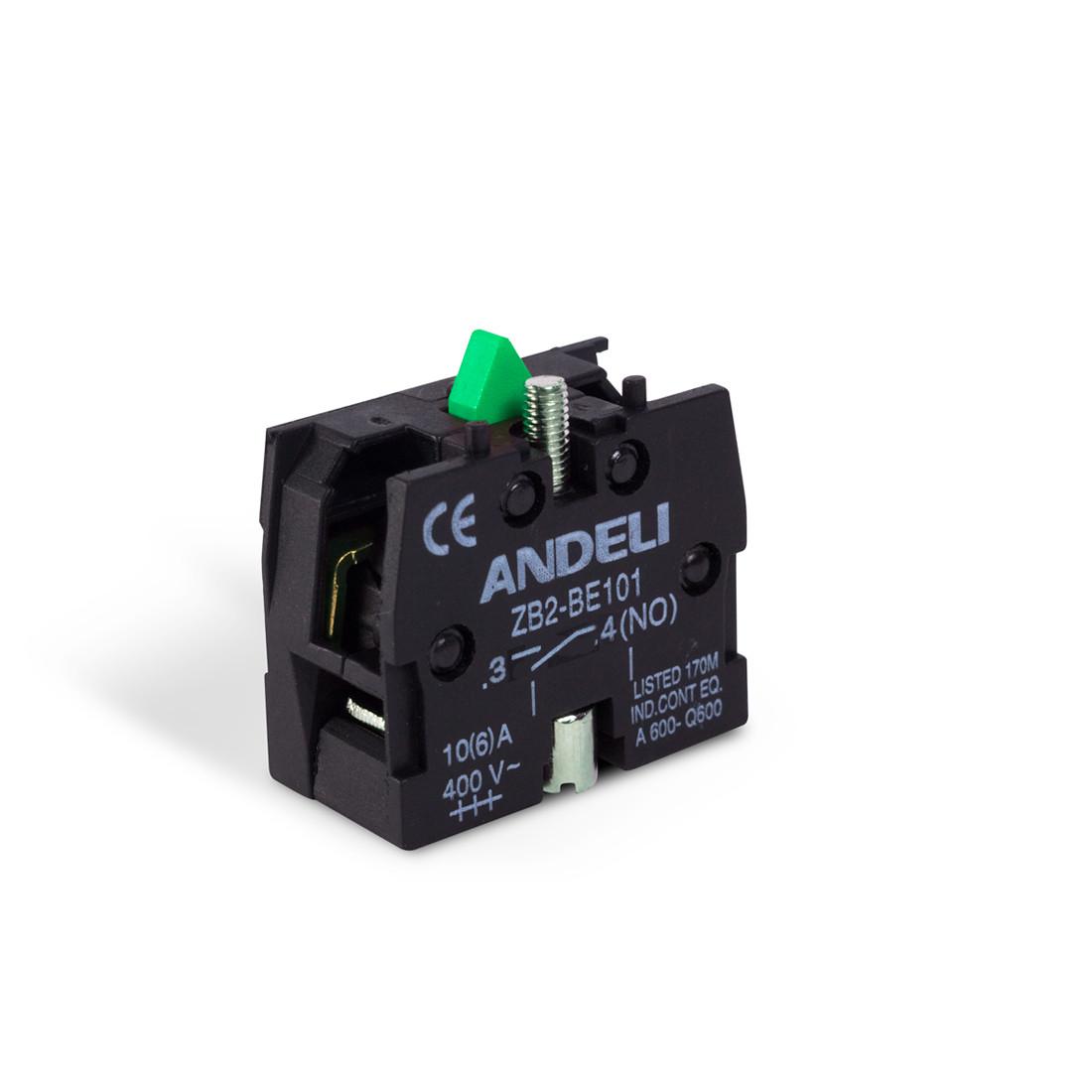 Блок контактов для кнопок ANDELI ZB-BE101 NO
