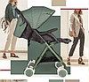 Прогулочная коляска Happy Baby Mia Light green