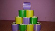 Термоэтикетка цветная (весовая лента) 58*40 для весов, принтеров этикеток