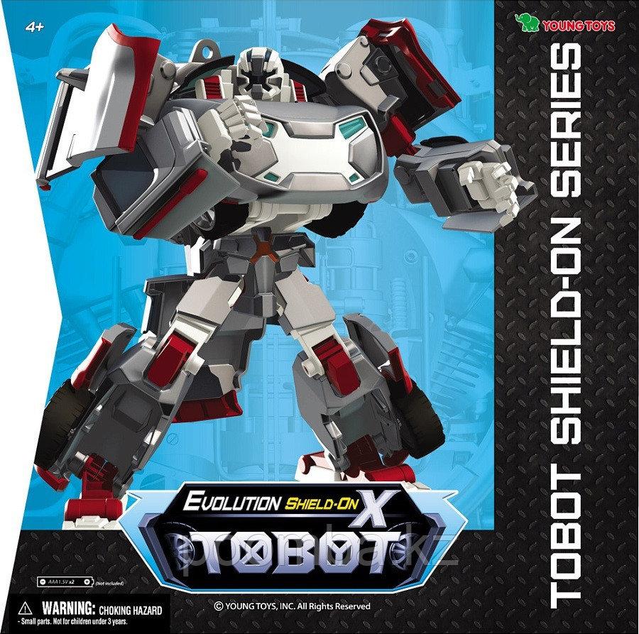 Трансформер Тобот Evolution X Shield-On, со световыми и звуковыми эффектами, наклейками и ключом-токеном