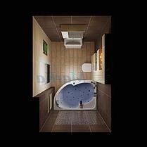 Акриловая ванна Диана  (160*100)(Левая) (Полный комплект) Ассиметричная. Угловая, фото 3