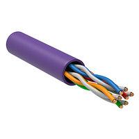 ITK U/UTP кат.5E 4х2х24AWG solid LSZH нг(А)-HF фиолетовый (305м) кабель витая пара (LC1-C5E04-126)