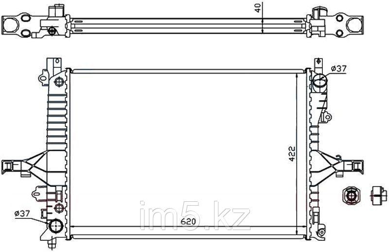 Радиатор VOLVO XC70 00-06